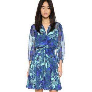Rebecca Taylor 100% silk floral print dress size 4